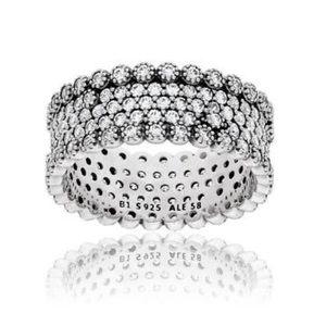 Pandora Lavish Sparkle Ring Clear